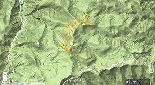 Mountain Map Black Balsam Knob U0026 Tennent Mountain Loop Ivestor Gap Trail