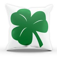 shamrock st patricks day pillow cushion cover case present gift