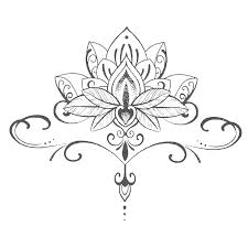 waterproof temporary tattoo stickers cute buddha lotus flowers