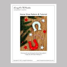 horseshoe pattern christmas sewing projects sewing christmas