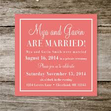 wedding invitation wording for already married check yes or no wedding announcement reception invite deposit