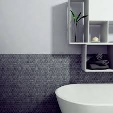 Hexagon Backsplash Tile by 39 Stylish Hexagon Tiles Ideas For Bathrooms Digsdigs