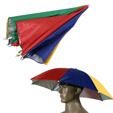 watermelon peel umbrella hat cap sun shade camping fishing brolly