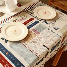 aliexpress com buy best design table cloth cartoon newspaper