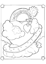 care bear heart coloring pages hellokids