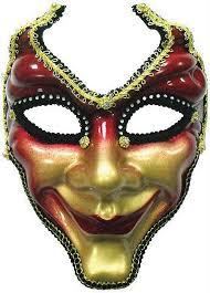 jester mask gold jester glazed mask on headband or ribbon