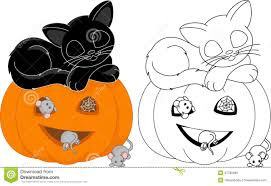 halloween coloring pages with cats coloring page