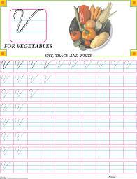 cursive capital letter v practice worksheet handwriting
