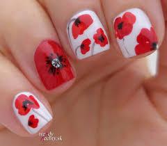 poppy nail art flower poppy nail art trendy nail design
