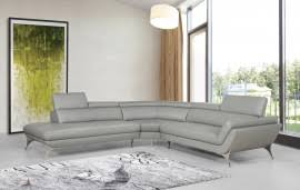 Grey Leather Sectional Sofa Casa Graphite Modern Grey Leather Sectional Sofa
