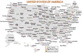 usa map key cities map of us showing major cities usa 352047 cdoovision