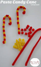 pasta candy cane ornament craft for kids at christmas crafts