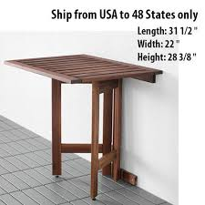 Wall Mounted Table Folding Wall Mounted Tables Stylish Innovative Outdoor Drop Leaf Table