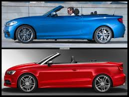 convertible audi red bmw 2 series convertible vs audi a3 convertible specs comparison