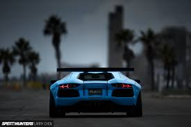lamborghini back blue shark attack lb works u0027 aventador speedhunters