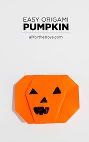 origami halloween easy pumpkin origami u2014 all for the boys