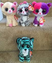 ty beanie boo claire u0027s justice cat tiger tess anabelle