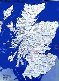 Map Of Scotland And England by Scottish Clan Map From Scotland U0027s History The Cooley U0027s Originally