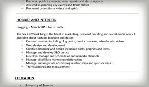 Personal Interests On Resume Examples by Interests Resume Best Free Resume Collection