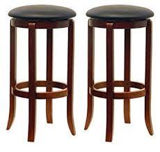 30 Inch Bar Stool With Back Winsome Wood 30 Inch Black Pvc Seat Walnut Bar Stools