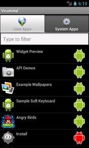 android malware scanner scan android with virustotal app free malware scanner