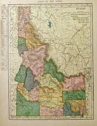 Map Of Montana And Idaho by Prints Old U0026 Rare Idaho Page