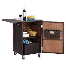 brown rattan wicker kitchen trolley cart kitchen u0026 dining carts
