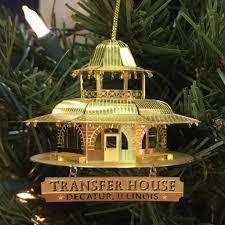 decatur brass transfer house 3 d ornament glass house store