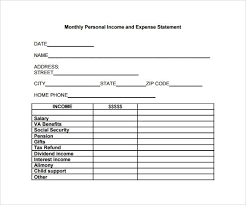 personal profit and loss statement template personal income