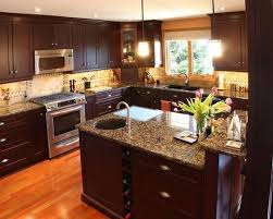 dark kitchen cabinets with dark floors brown walnut cabinet