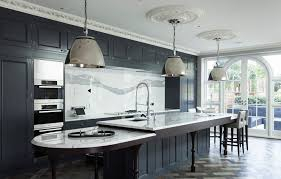 Charcoal Grey Kitchen Cabinets Stunning Kitchen In A Suburban London Home Marvelous Marble
