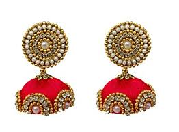 jhumka earrings online buy youth grand silk thread jhumka earrings online at low