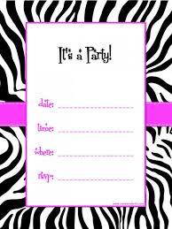 kids birthday party invitation templates free printable