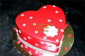 red heart shape cake for anniversary online cake delivery noida