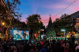 2017 santana row 40 foot tree lighting live music u0026 santa claus