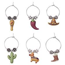 viva mexico themed wine charms mexican theme supplies
