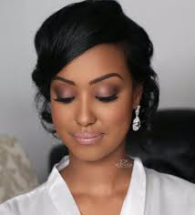 inspiration makeup wedding day bride black skin carnets mariage be