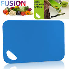 4 x chopping board flexible plastic colour kitchen cutting boards