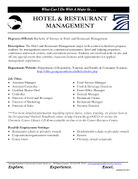hotel management resume exles hotel and conference centre
