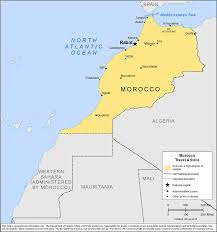 Map Of Spain And Morocco by Smartraveller Gov Au Morocco