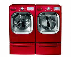 Samsung Blue Washer And Dryer Pedestal Best 25 Red Washer And Dryer Ideas On Pinterest Red Laundry