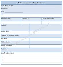 Example Hospitality Resume Customer Complaints Policy Template Virtren Com