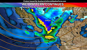 Weather Map Los Angeles by Weather Pattern Showing More Storms For Christmas Week Pending