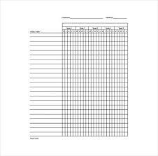 roll sheet template 38 free printable attendance sheet templates