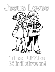 free bible coloring pages god loves children kids church