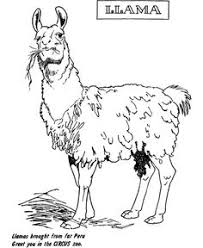 llama free printable coloring pages activities pinterest