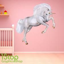 unicorn wall stickers wall art kids large unicorn wall sticker