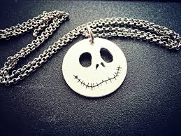 jack the pumpkin king necklace halloween silver jewelry