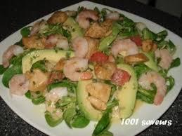 comment cuisiner des crevettes roses salade de poulet mariné crevettes et plemousse de cyril