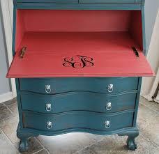 Secretary Style Desks Best 25 Painted Secretary Desks Ideas On Pinterest Secretary